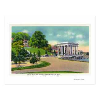View of Coles Hill and Plymouth Rock Portico Postcard
