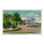 View of Coles Hill and Plymouth Rock Portico Poster