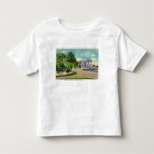 View of Coles Hill and Plymouth Rock Portico T-shirts