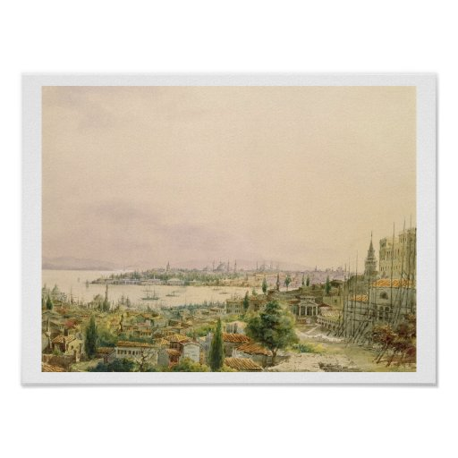 View of Constantinople from Pera Poster