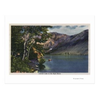 View of Convict Lake in the High Sierra Postcard