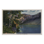 View of Convict Lake in the High Sierra Poster