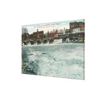 View of Court Street Bridge Showing Lehigh Canvas Print