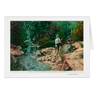 View of Coyote Creek at Gilroy Hot Springs Greeting Card