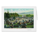 View of Crowds at Golden Gate Park in December Card
