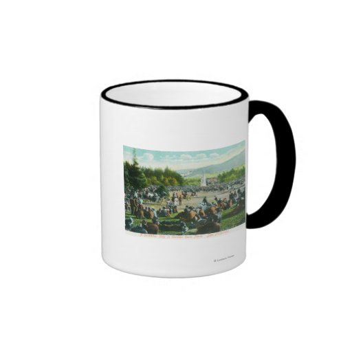View of Crowds at Golden Gate Park in December Ringer Coffee Mug