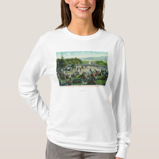 View of Crowds at Golden Gate Park in December T-Shirt