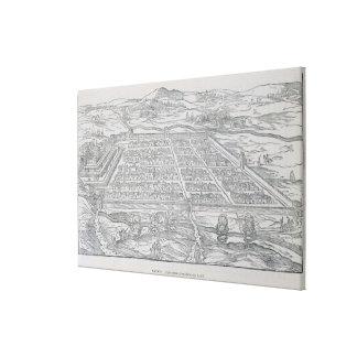 View of Cusco, from Ramusio, pub. 1556 Canvas Print