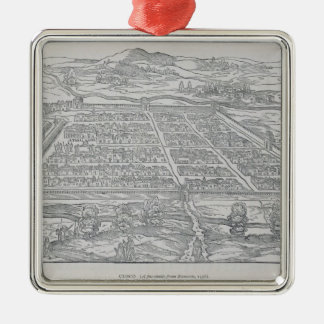 View of Cusco, from Ramusio, pub. 1556 Metal Ornament