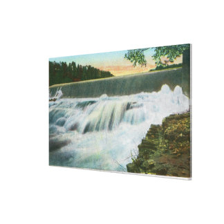 View of Dam at Ausable Chasm Canvas Prints