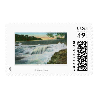 View of Dam at Ausable Chasm Stamp