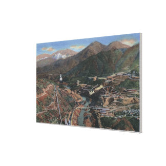 View of Dam During Construction Gallery Wrap Canvas