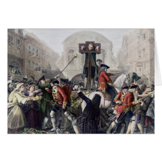 View of Daniel Defoe in the pillory at Temple Bar Card