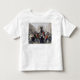 View of Daniel Defoe in the pillory at Temple Bar Toddler T-shirt