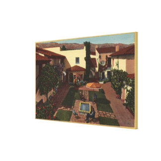 View of De la Guerra Patio & Shops Canvas Print