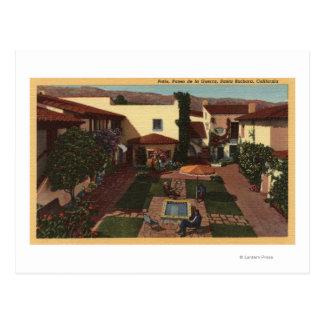 View of De la Guerra Patio & Shops Postcard
