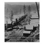View of Deadwood SD in 1876 Poster