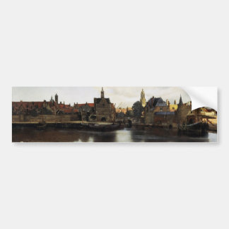 View of Delft by Johannes Vermeer Bumper Sticker