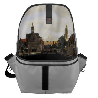 View of Delft by Johannes Vermeer Courier Bag