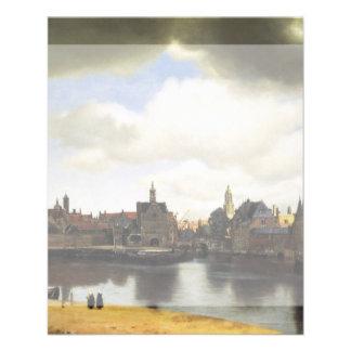 View of Delft by Johannes Vermeer Flyer Design