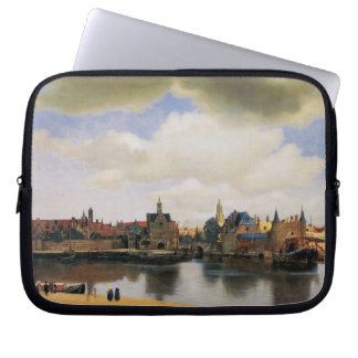 View of Delft by Johannes Vermeer Laptop Sleeves