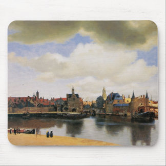 View of Delft by Johannes Vermeer Mouse Pad