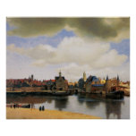 View of Delft by Johannes Vermeer Poster