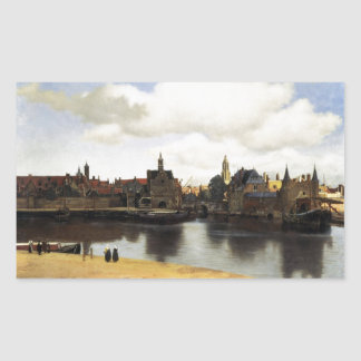 View of Delft by Johannes Vermeer Rectangular Sticker