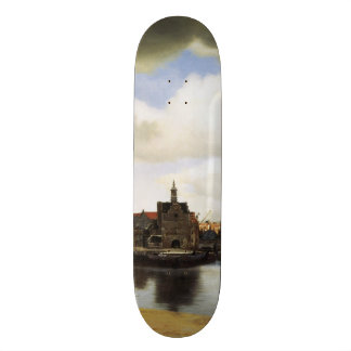 View of Delft by Johannes Vermeer Skateboards