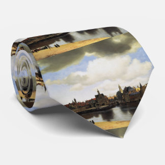 View of Delft by Johannes Vermeer Tie