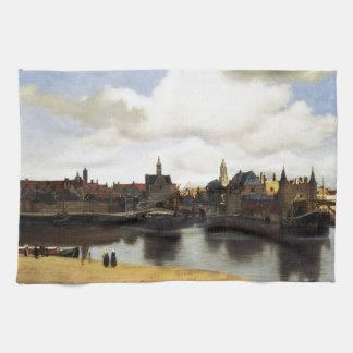 View of Delft by Johannes Vermeer Towel