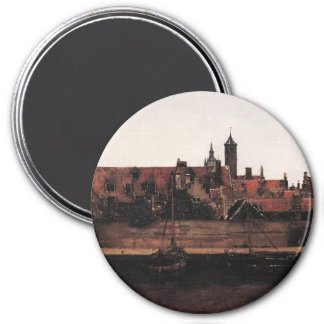 View of Delft (detail) 3 Inch Round Magnet