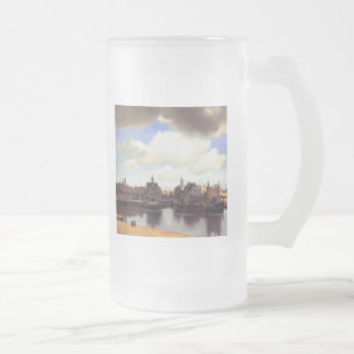 View of Delft Frosted Glass Beer Mug