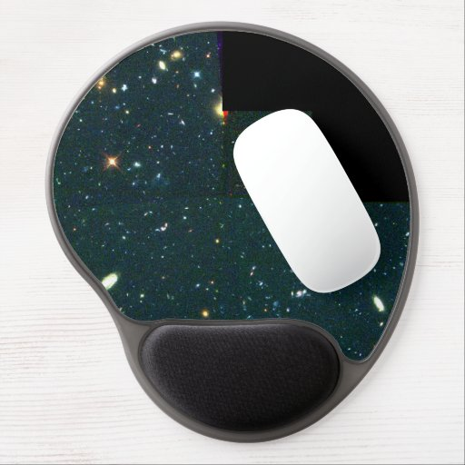 View of Distant, Faint Galaxies Reveals Young Gala Gel Mouse Pads