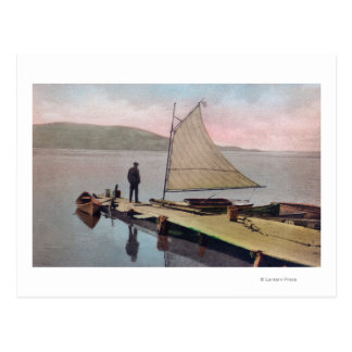 View of Docked Sailboat at Utah LakeProvo, UT Postcard