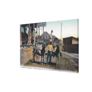 View of Donkeys Carrying WaterBisbee, AZ Canvas Print