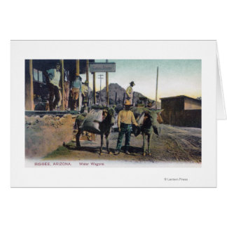 View of Donkeys Carrying WaterBisbee, AZ Card