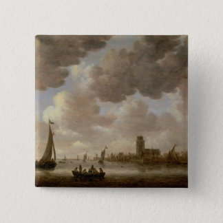 View of Dordrecht Downstream from the Grote Kerk, Button