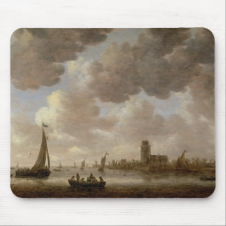 View of Dordrecht Downstream from the Grote Kerk, Mouse Pad