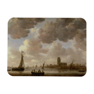 View of Dordrecht Downstream from the Grote Kerk, Rectangular Photo Magnet