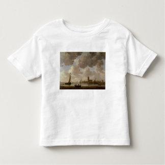 View of Dordrecht Downstream from the Grote Kerk, T-shirt
