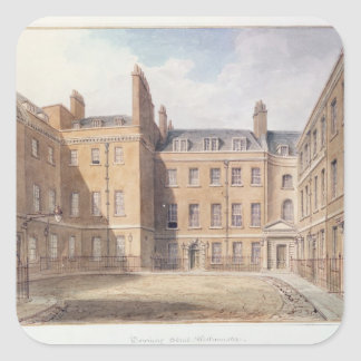 View of Downing Street, Westminster Square Sticker