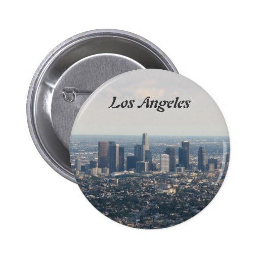 View of Downtown Los Angeles Pinback Button