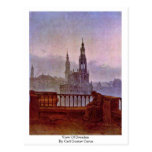 View Of Dresden By Carl Gustav Carus Postcard