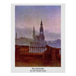 View Of Dresden By Carl Gustav Carus Print
