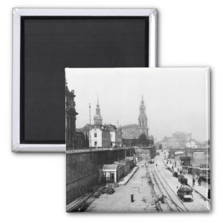 View of Dresden from the Bruehlsche Terrasse 2 Inch Square Magnet