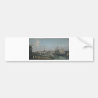 View of Dresden from the Right Bank Bumper Sticker