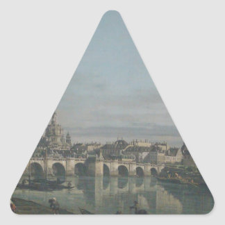 View of Dresden from the Right Bank Triangle Sticker