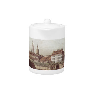 View of Dresden, the Dresden fortifications Teapot