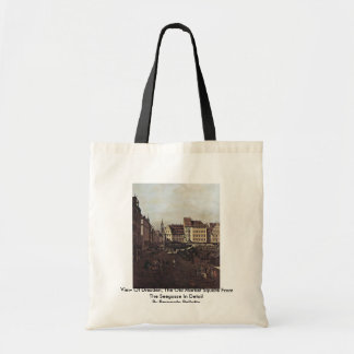 View Of Dresden, The Old Market Square Canvas Bags